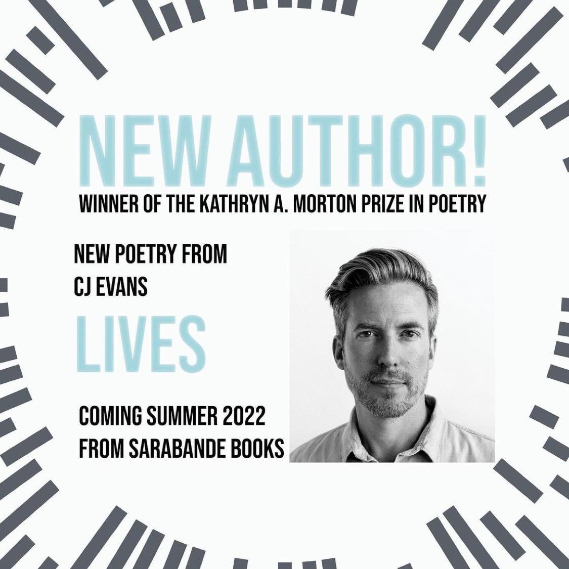 CJ Evans Wins Kathryn A Morton Prize from Sarabande Books